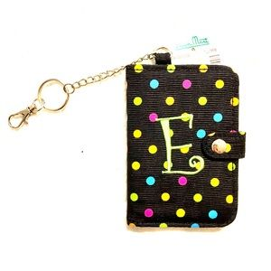 "Accessories - Polka Dot ""E"" Keychain Cardholder NWT"